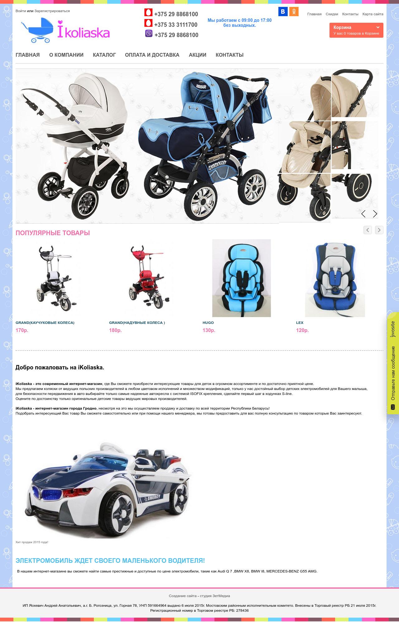 78757e5e55d Создание интернет-магазина детских товаров в Гродно
